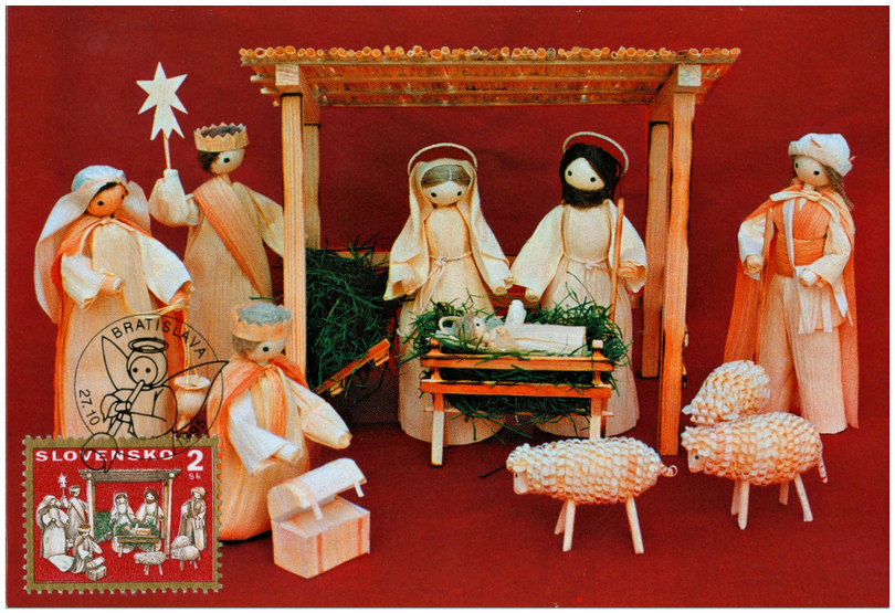 ... Products - Christmas ´95 - Nativity Scene with Corn - husk Figures
