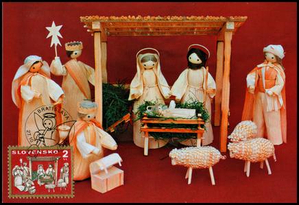 Vianoce 1995 - Betlehem zo šúpolia