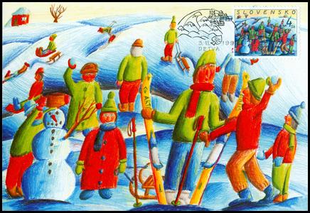 Vianoce 1999 - Zima a zimné radovánky