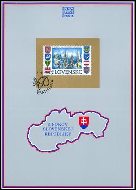 5 rokov Slovenskej republiky (10 pečiatok)