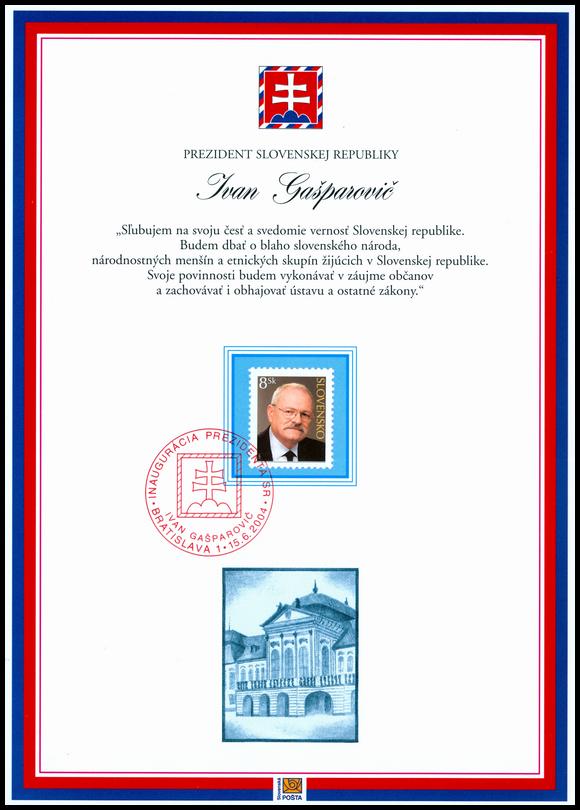 Pamätný list Prezident SR Ivan Gašparovič
