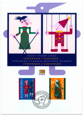 Joint stamp Issue Indonesia - Slovakia
