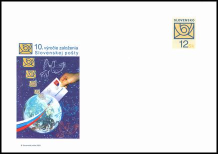 10. výročie založenia Slovenskej pošty