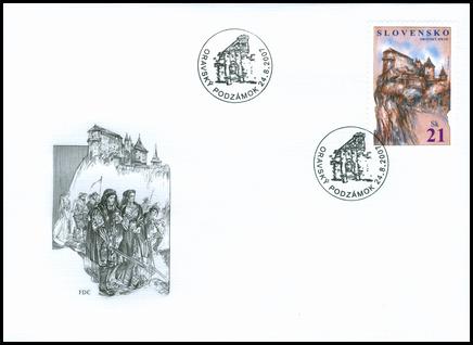 Spoločné vydanie so San Marínom - Oravský hrad