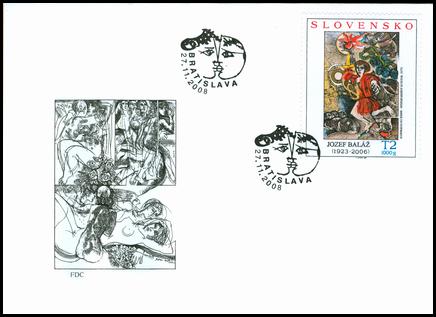 Umenie – Jozef Baláž: ilustrácia z knihy Sedemfarebný kvietok, 1975
