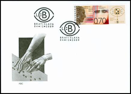 Deň poštovej známky: Louis Braille (1809 - 1852)