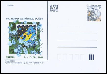 500 rokov Európskej pošty BELGICA