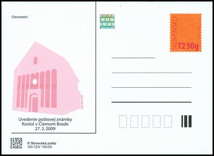 Uvedenie známky Kostol v Čiernom Brode