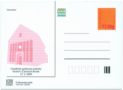 Stamp introduction Church in Čierny Brod