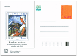 Anketa o najkrajšiu slovenskú poštovú známku 2008