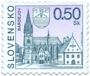 Bardejov   (Definitive stamp)