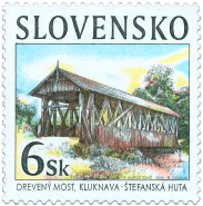 Historical bridges - Wooden bridge in Kluknava