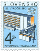 "125"" Anniversary of the World Postal Union - Automatic Sorting Line"