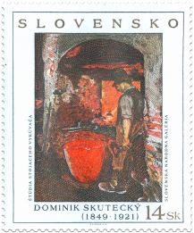 Art - Dominik Skutecký: Study of the staying blacksmith - Ironworker