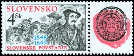 Slovenské povstanie 1848-49 s kupónom 150. výročia Slovenskej národnej rady