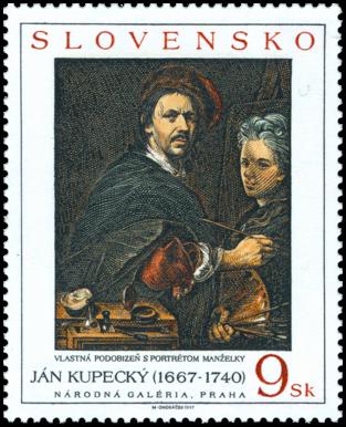 Umenie - Ján Kupecký: Vlastná podobizeň s portrétom manželky
