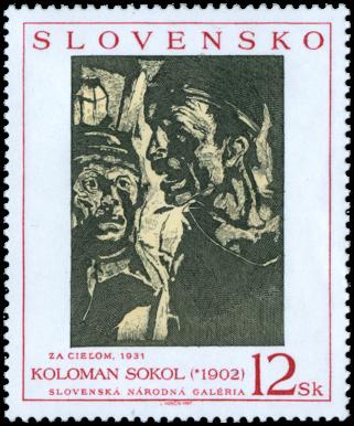 Umenie - Koloman Sokol: Za cieľom (Baníci)