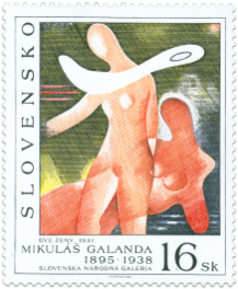 Art - Mikuláš Galanda: Two Women