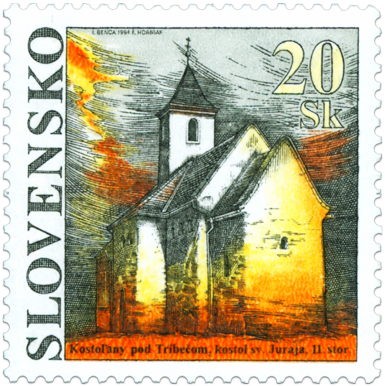 Krásy našej vlasti - Kostol sv. Juraja v Kostoľanoch pod Tríbečom