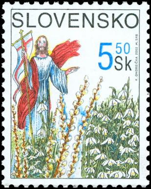 Veľkonočná známka 2002