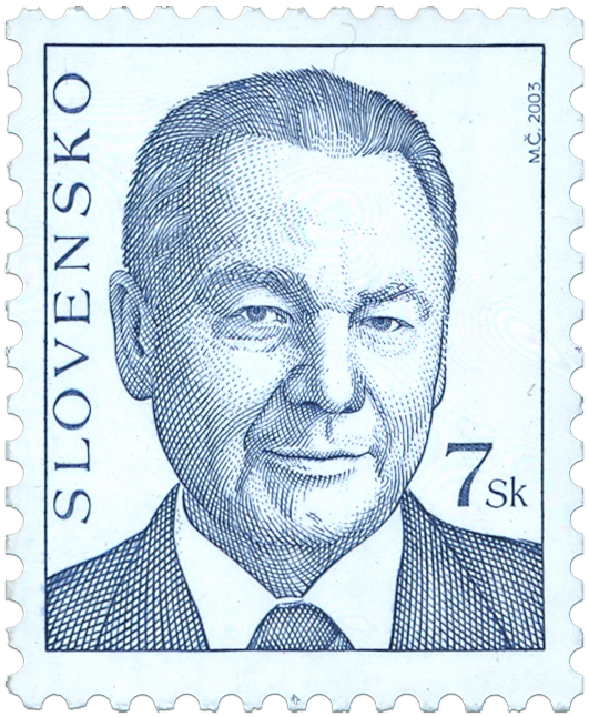 Známka - Prezident SR Rudolf Schuster (výplatná)