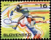 Sports Stamp - Tennis