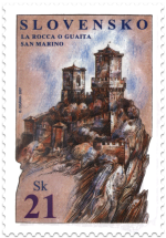 Joint Issue with San Marino - La Rocca o Guaita