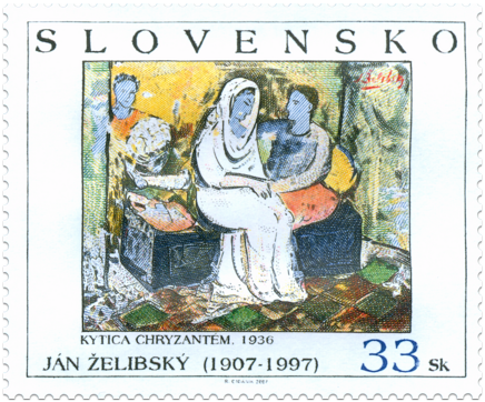 Umenie - Ján Želibský: Kytica chryzantém, 1936