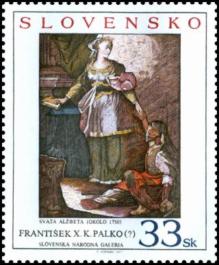 Umenie - František  X. K. Palko (?): Svätá Alžbeta, okolo 1750