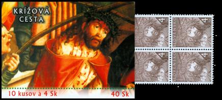 Krížová cesta - emisný rad veľkonočných známok