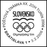 Poštová známka XX. ZOH Turín 2006