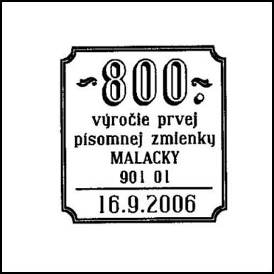 800. výročie prvej písomnej zmienky Malacky