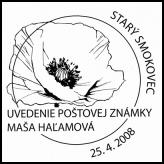 Uvedenie poštovej známky Maša Haľamová