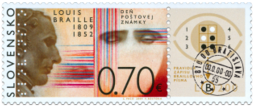 Postage Stamp Day: Louis Braille (1809 - 1852)