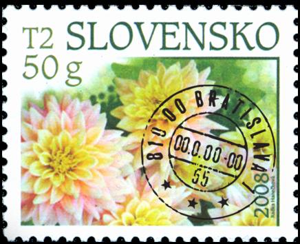 Dálie - známka s prítlačovým kupónom