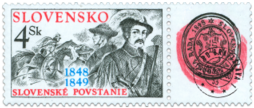 The Slovak Uprising of 1848-49 with a tab recalling the 150.th Anniversary of the Slovak National Council