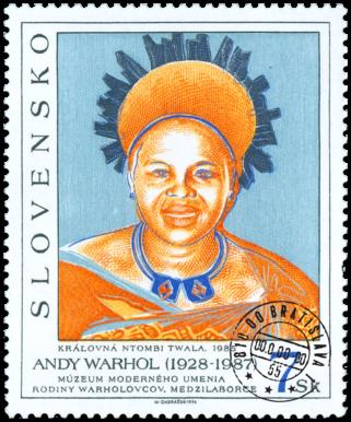 Umenie - Andy Warhol: Kráľovná NTOMBI TWALA