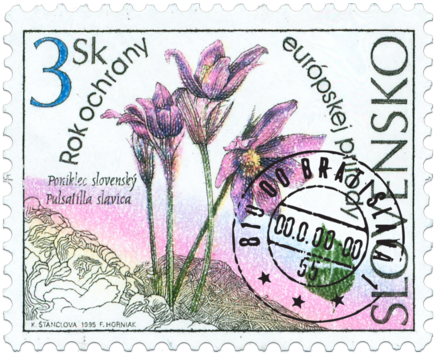 European Nature Conservation Year - Pulsatilla slavica
