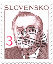 The President of Slovak Republik   (definitive stamp)