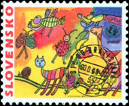 Detská známka - UNICEF
