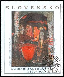 Umenie - Dominik Skutecký: Štúdia stojaceho vykúvača - Hutník