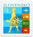 Postage Stamp Day:  History of Post Transport   (Definitive stamp)