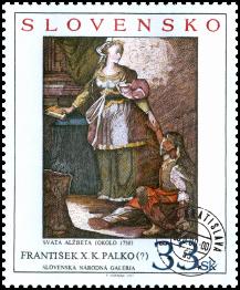 Art - František  X. K. Palko (?): Saint Elisabeth, about 1750
