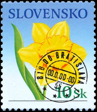 Blahoprajná známka - Narcis   (výplatná)