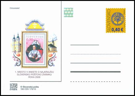 Anketa o najkrajšiu poštovú známku roka 2009