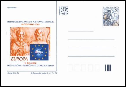 Slovensko 2002, Deň Európy - Patróni sv. Cyril a Metod