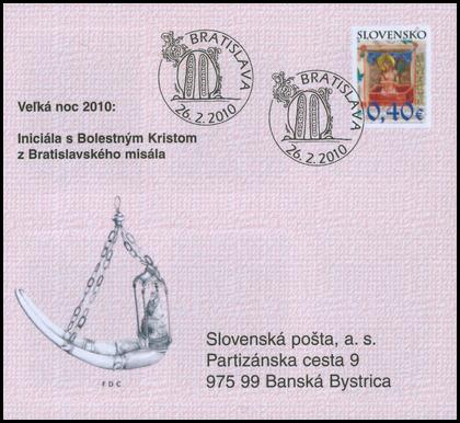 Veľká noc 2010: Iniciála s Bolestným Kristom z Bratislavského misála