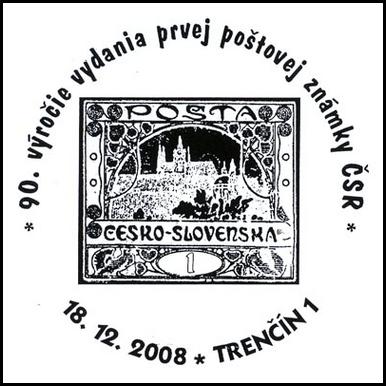 90. výročie vydania prvej poštovej známky ČSR
