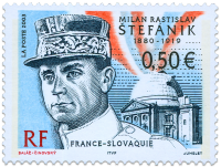 "Milan Rastislav Štefánik  ""France - Slovak Joint Issue"""