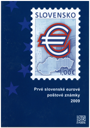 The First Slovak Euro Postage Stamps 2009